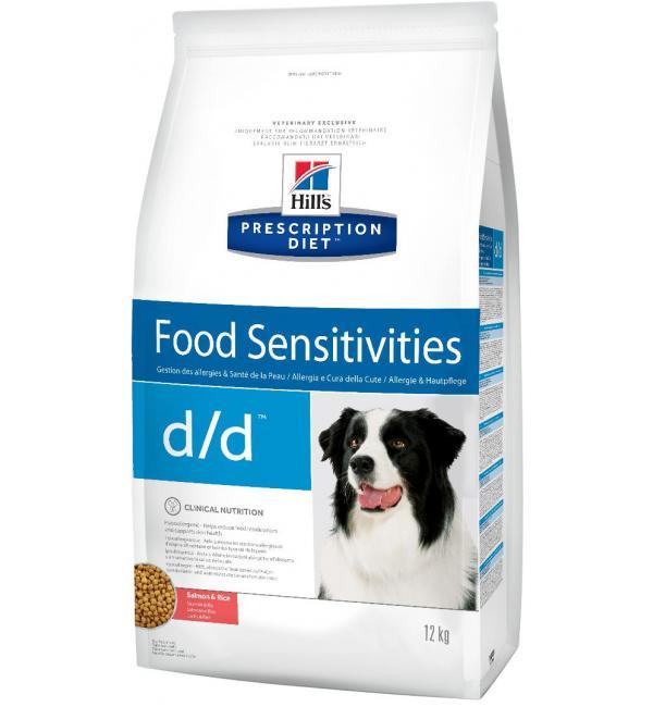 Сухой корм Hill's Prescription Diet для собак d/d, лосось и рис (12 кг)