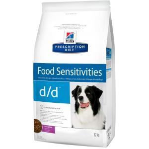 Сухой корм Hill's Prescription Diet для собак d/d, утка и рис (12 кг)