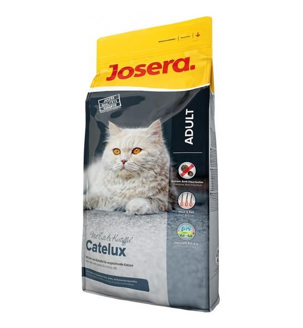 Сухой корм Josera Catelux (Adult 32/20) для взрослых длинношерстных и привередливых кошек, склонных к образованию комков шерсти (10 кг)