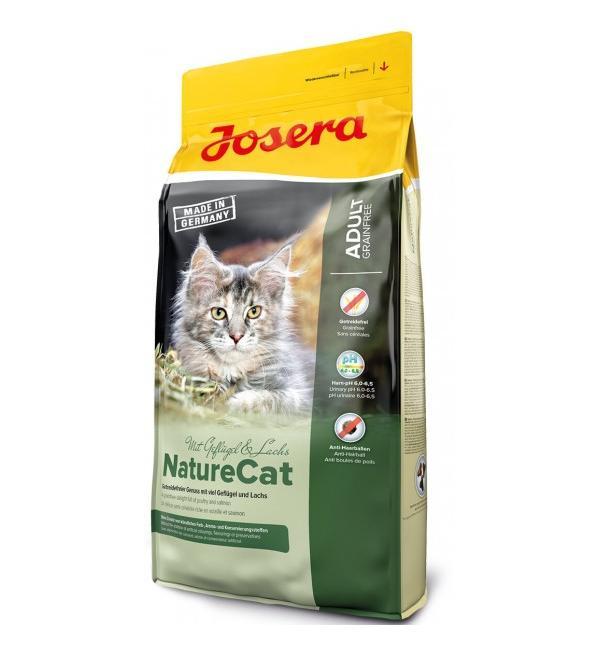 Сухой корм Josera NatureCat (Adult Sensitive 33/20) беззерновой для кошек с чувствительным пищеварением и котят от 6 месяцев (10 кг)