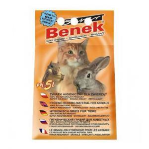 Наполнитель Super Benek комкующийся универсальный натуральный (5 л)