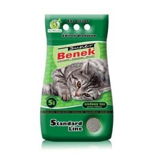 Наполнитель Super Benek комкующийся зеленый лес (5 л)
