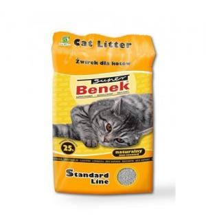 Наполнитель Super Benek комкующийся натуральный (25 л)