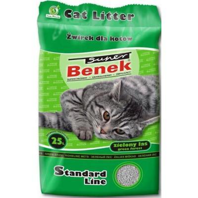 Наполнитель Super Benek комкующийся зеленый лес (25 л)