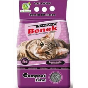 Наполнитель Super Benek комкующийся  компакт лаванда (25 л)