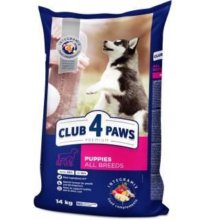 Сухой корм Club 4 Paws Премиум для щенков всех пород с высоким содержанием курицы (14 кг)