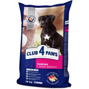 Сухой корм Club 4 Paws Премиум для щенков крупных пород, Курица (14 кг)