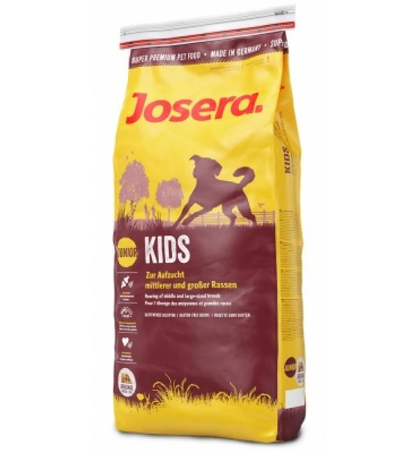 Сухой корм Josera Kids (Junior Medium/Maxi 25/12) для щенков от 8 недель и молодых собак средних и крупных пород (15 кг)