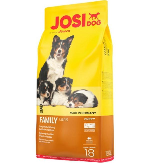 Сухой корм Josera JosiDog Family (Reproduction/puppy 29/17) для беременных и кормящих сук и прикорма щенков (18 кг)