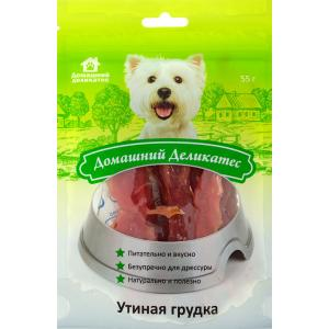 Лакомства Домашний деликатес Утиная грудка (0,055 кг)