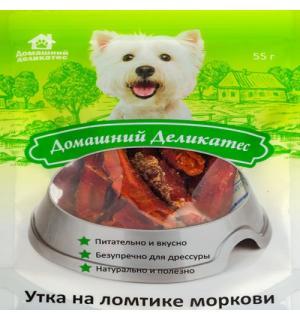 Лакомства Домашний деликатес Утка на ломтике моркови (0,055 кг)