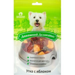 Лакомства Домашний деликатес Утка с яблоком (0,055 кг)