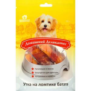 Лакомства Домашний деликатес Утка на ломтике батата (0,055 кг)