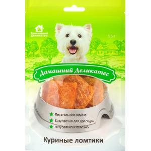 Лакомства Домашний деликатес Кальциевая косточка с курицей (0,055 кг)