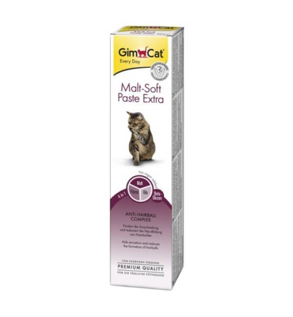 Паста GIMCAT для кошек Malt-Soft-Extra с эффектом выведения шерсти (0,050 кг)