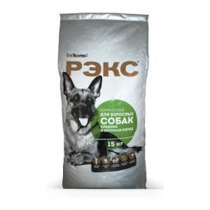 Сухой корм РЭКС для взрослых собак средних и крупных пород (15 кг)