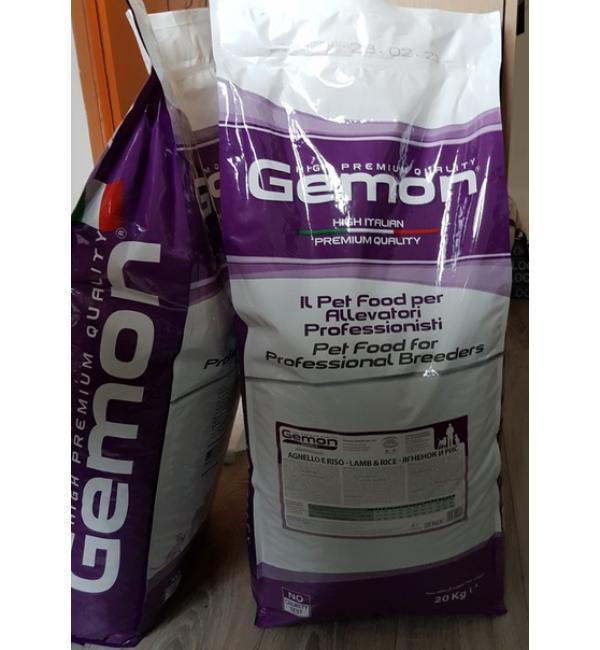 Сухой корм Gemon Dog Adult Lamb&Rice 24/12 для взрослых собак всех пород, с ягненком и рисом (20 кг)