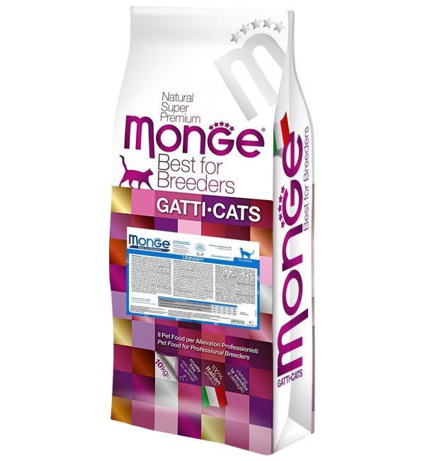 Сухой корм Monge Cat Urinary для кошек с профилактикой МКБ, с цыпленком (10 кг)