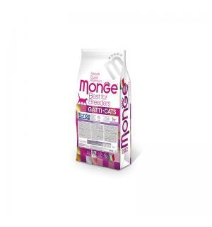 Сухой корм Monge Cat Sterilized низкокалорийный для стерилизованных кошек, с цыпленком (10 кг)