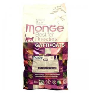 Сухой корм Monge Cat Adult для взрослых кошек, с цыпленком (10 кг)
