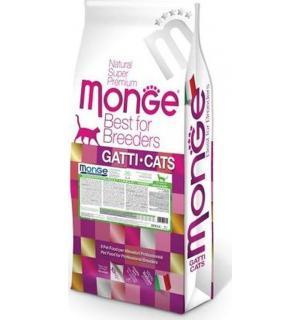 Сухой монопротеиновый корм Monge Cat для взрослых котов, с кроликом (10 кг)
