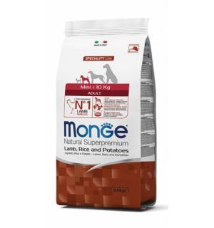 Сухой корм Monge Dog Mini Adult Lamb/ Rice/Potato для взрослых собак мини пород, с ягненком, рисом и картофелем (15 кг)