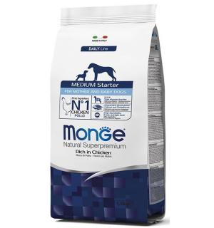 Сухой корм Monge Dog Medium STARTER 31/22 для щенков средних пород с момента первого прикорма (15 кг)