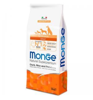 Сухой корм Monge Dog SPECIALITY для взрослых собак всех пород, с уткой, рисом и картофелем (15 кг)