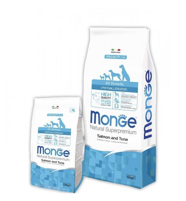 Сухой корм Monge Dog SPECIALITY Hypoallergenic для взрослых собак гипоаллергенный, с рыбой (15 кг)