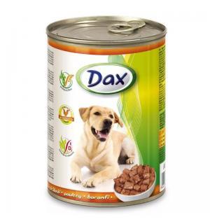 Консервы Dax for Dog для cобак, с птицей, кусочками (1,240 кг)
