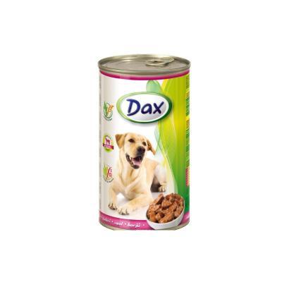 Консервы Dax for Dog для cобак, с телятиной, кусочками (1,240 кг)
