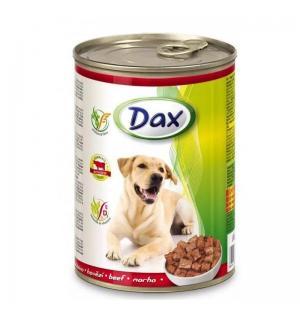Консервы Dax for Dog для cобак, с говядиной, кусочками (1,240 кг)