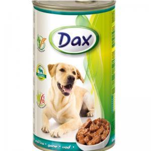 Консервы Dax for Dog для cобак, с дичью, кусочками (1,240 кг)