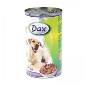 Консервы Dax for Dog для cобак, с ягнёнком, кусочками (1,240 кг)