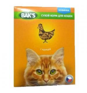 Сухой корм  Baks for Cats для кошек, с курицей (10 кг)