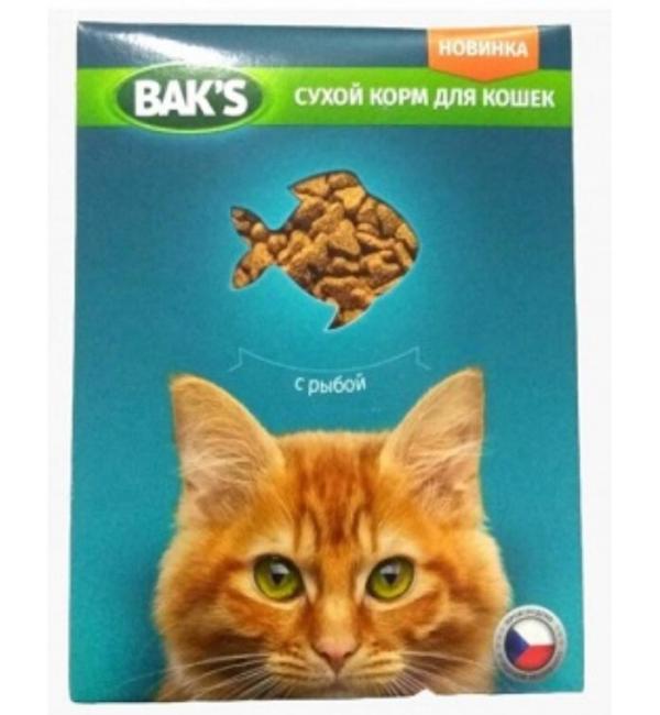 Сухой корм  Baks for Cats для кошек, с рыбой (10 кг)