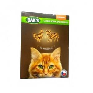 Сухой корм  Baks for Cats для кошек, мясное ассорти (10 кг)