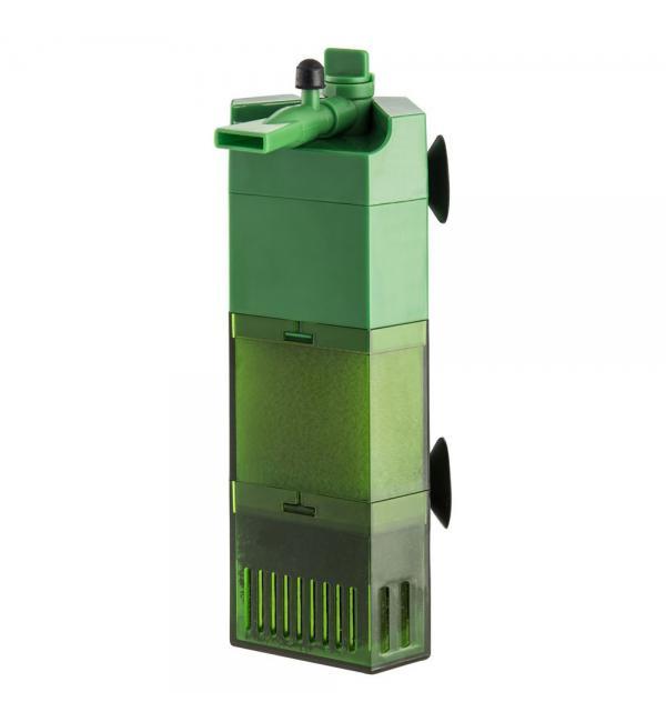 Фильтр внутренний Barbus секционный угловой (1600л/ч, 28 Ватт ), 200-350л