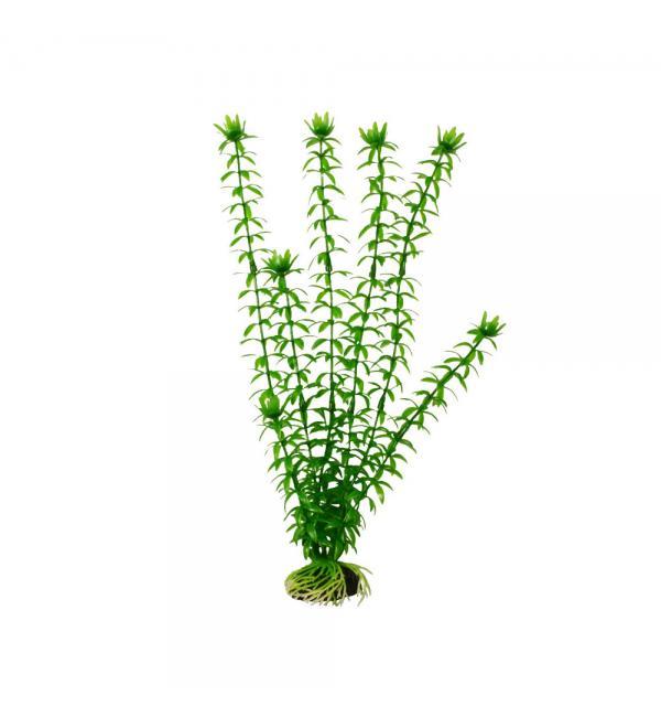 Пластиковое растение Barbus Plant 004 - Элодея ЗЕЛЕНАЯ, 10см