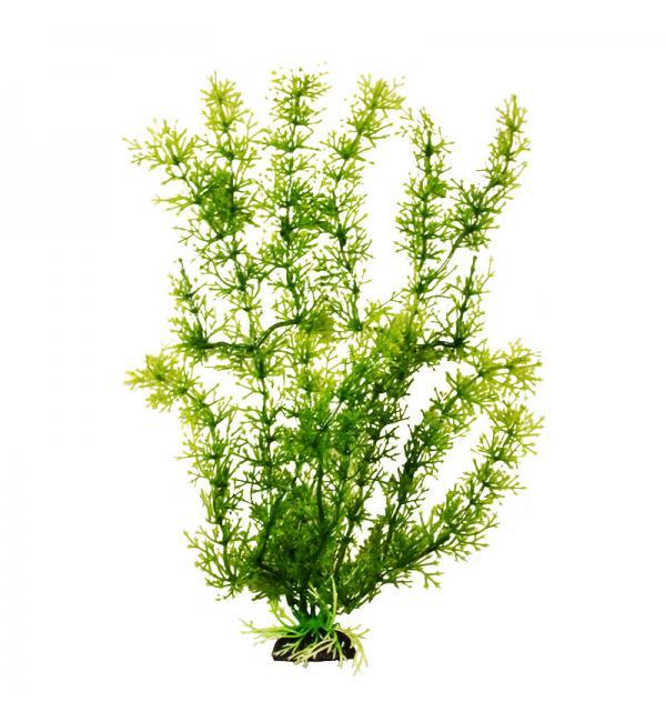Пластиковое растение Barbus Plant 024 - Яванский мох ЗЕЛЕНЫЙ, 20см