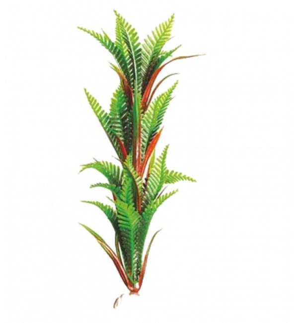 Пластиковое растение Barbus Plant 027 - Папоротник ЗЕЛЕНЫЙ, 10см