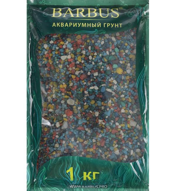 Цветной кварц Barbus МИКС ПРЕМИУМ 2-4мм (1 кг)