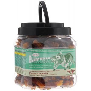 Лакомства GREENQZIN ВЫНОСЛИВОСТЬ (Сушеное утиное мясо на ломтике батата)(туба) (0,75 кг)