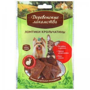 Лакомства Деревенские лакомства Ломтики крольчатины для мини-пород (0,055 кг)