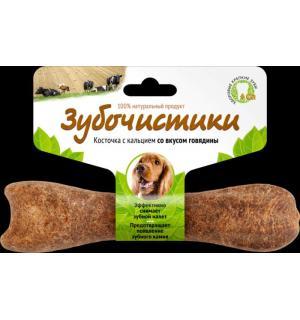 Зубочистики Деревенские лакомства для собак средних пород со вкусом говядины, 1 шт