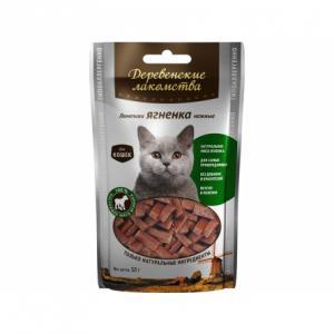 Деревенские лакомства Ломтики ягненка нежные для кошек (0,045 кг)