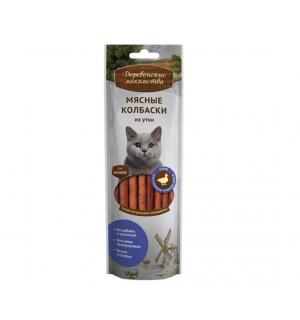 Деревенские лакомства Мясные колбаски из утки для кошек (0,045 кг)
