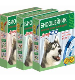 БИОошейник Доктор ЗОО от блох и клещей для собак, красный 65 см