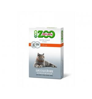 БИОошейник ЭКО ZOOЛЕКАРЬ для кошек и мелких собак, зеленый 35 см