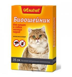 БИОошейник Amstrel для кошек и мелких собак, оранжевый 35 см